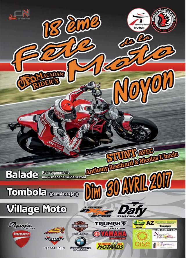 18e Fête de la moto à Noyon(60400) dimanche 30 avril 2017 18eme110