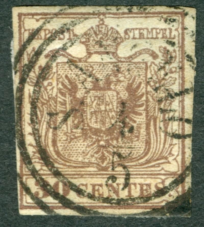 Briefmarken - Lombardei - Venetien 1850 - 1858 - Seite 5 1850_310