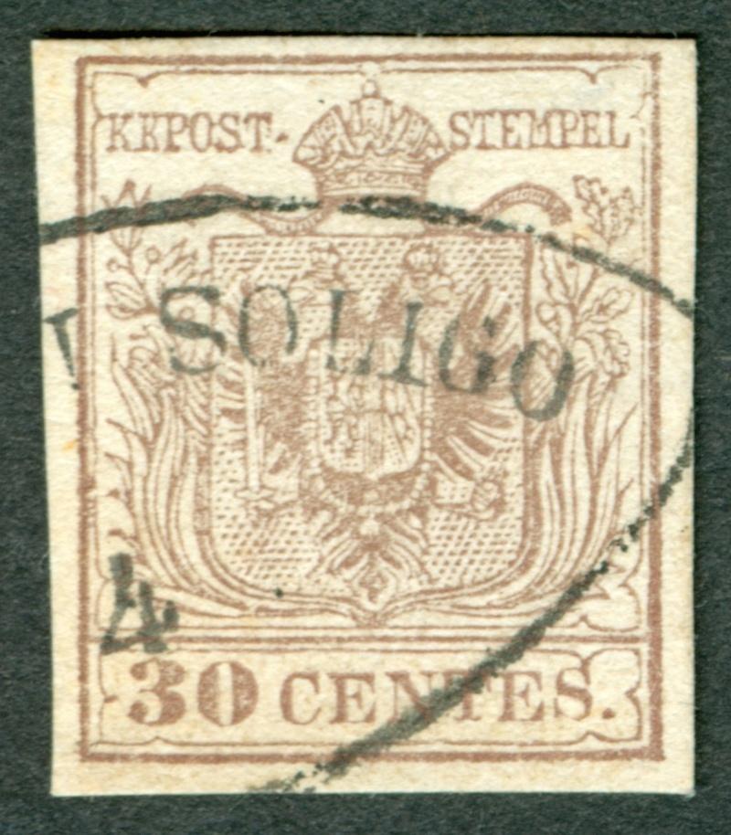 Briefmarken - Lombardei - Venetien 1850 - 1858 - Seite 5 1850_311