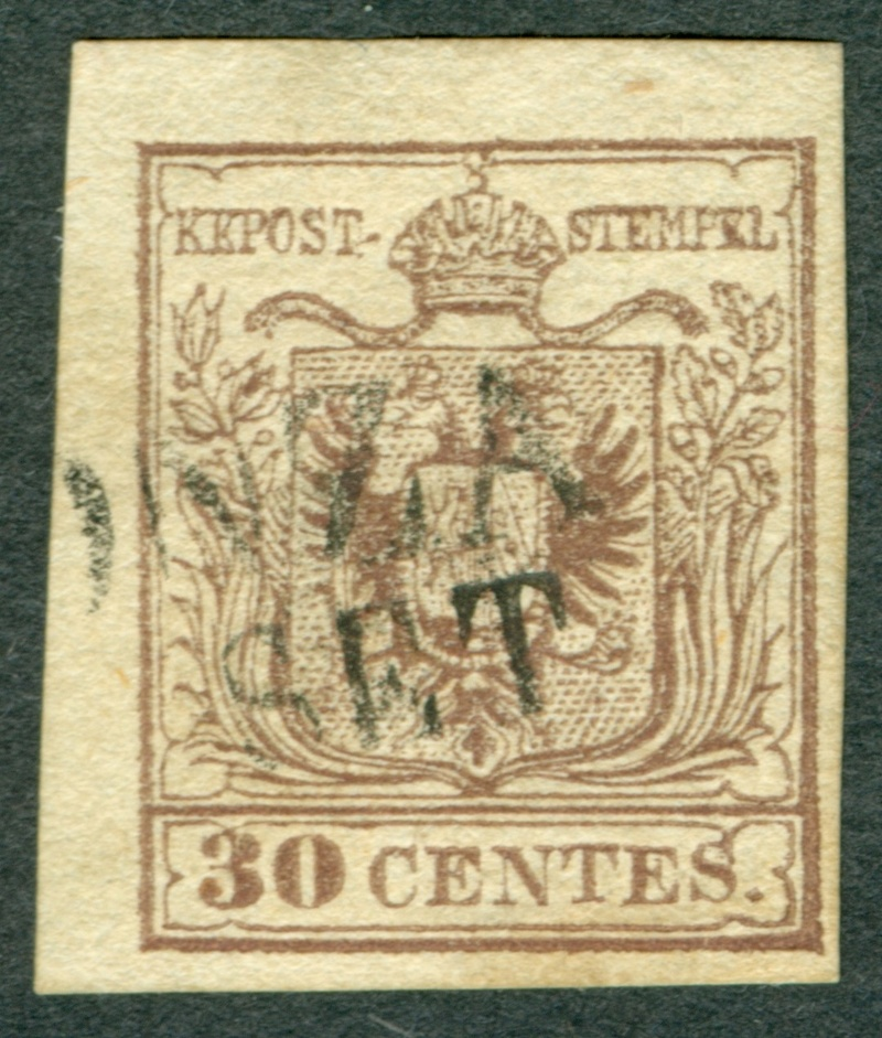 Briefmarken - Lombardei - Venetien 1850 - 1858 - Seite 5 1850_l11