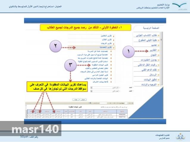 نتائج الصف الاول والثاني والثالث المتوسط 1441 طلاب وطالبات  110