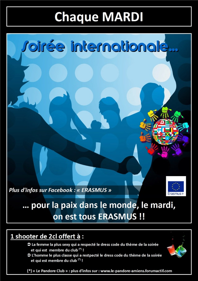 #Internation #event in #Amiens (#MadeInFrance) : #Erasmus #party Le_pan13