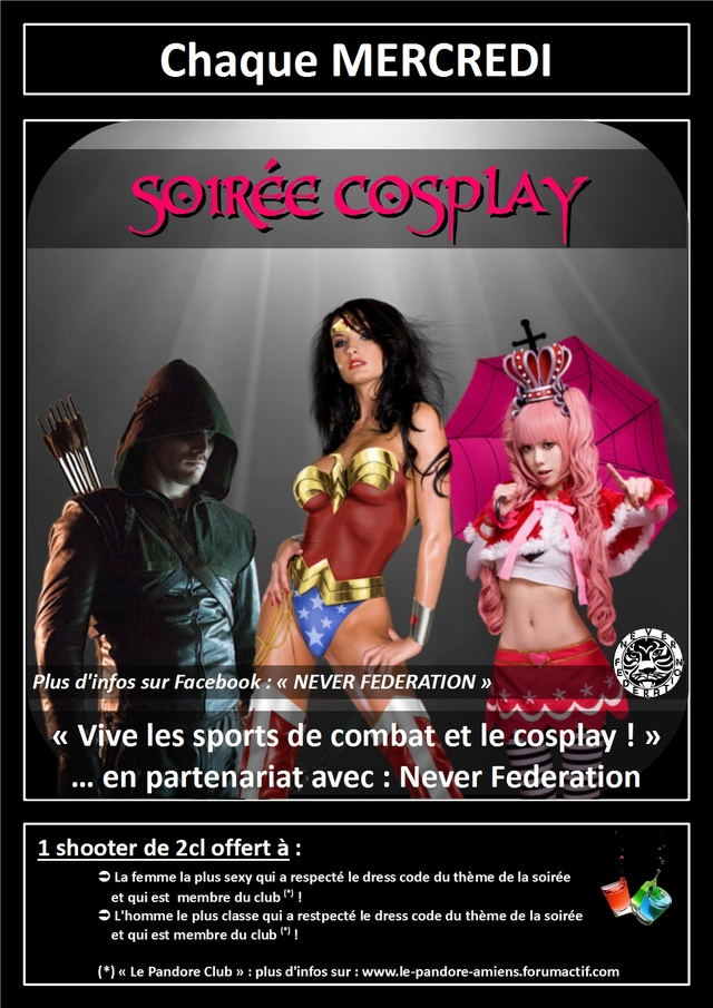 #Internation #event in #Amiens (#MadeInFrance) : #Cosplay and #SexyCosplay #party Le_pan14