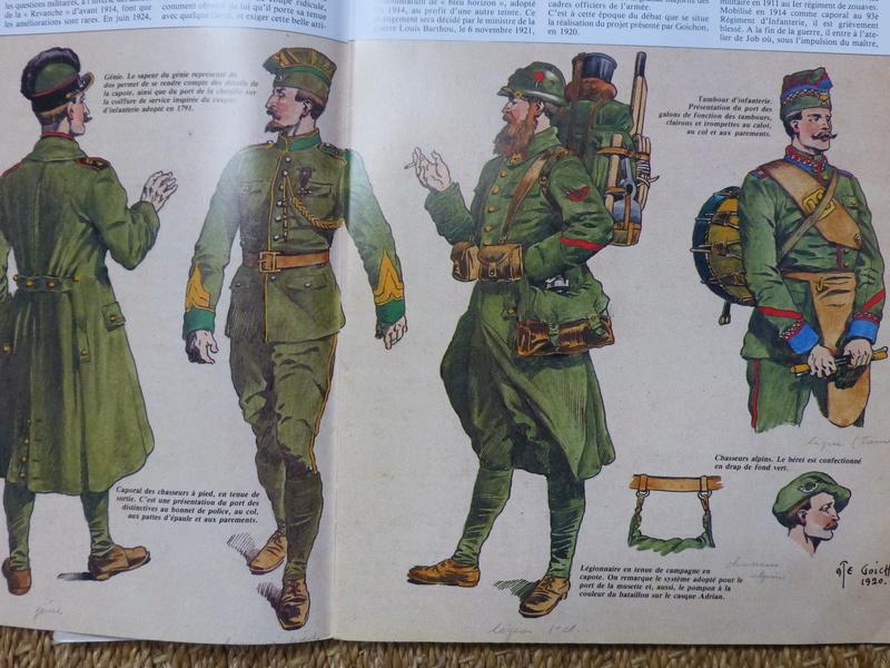 une curiosité:le projet d'uniforme français d'Auguste Goichon P1050616