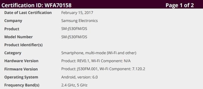 Samsung Galaxy J5 (2017) might be coming soon Galaxy11
