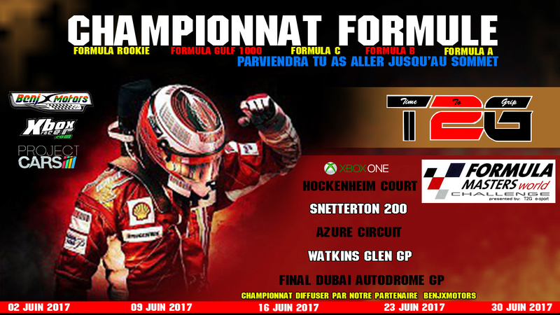 Inscription au championnat Formula Masters World Challenge Formul13
