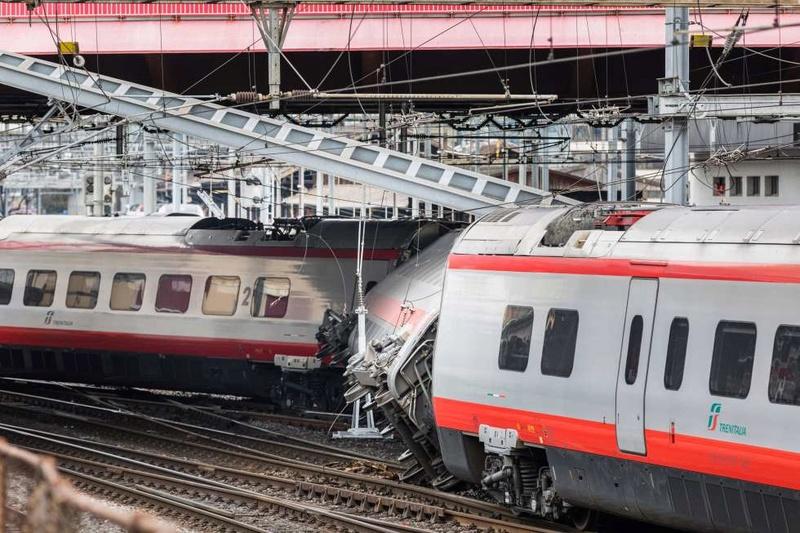 Déraillement d'un ETR 610 - Lucerne - Suisse 20170310