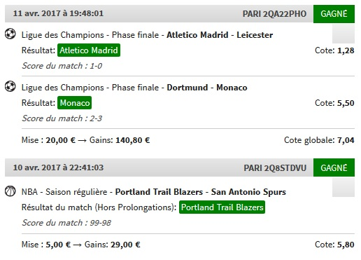 Session Paris Sportifs AceOfSpades. Perf310