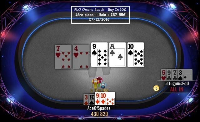 Session Poker AceOfSpades. Plo_0711