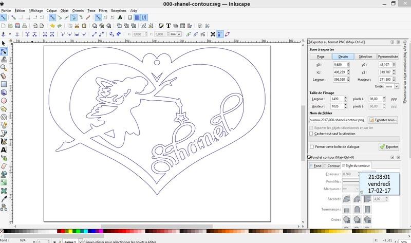 Inkscape - Leçon 1 - Lier les lettres d'un mot Screen10