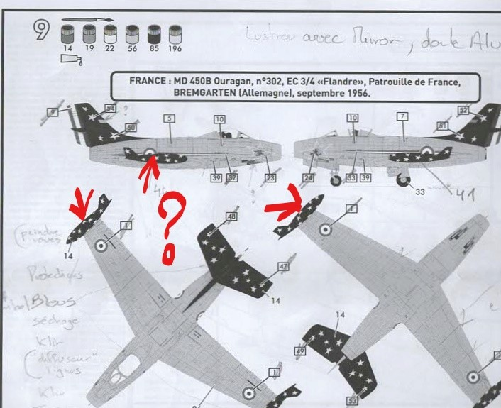 DASSAULT MD 450 OURAGAN 1/72ème ref 80201 Notice Numyri10