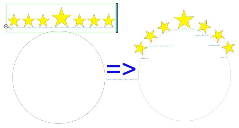 courber texte avec silhouette designer edition Etoile10
