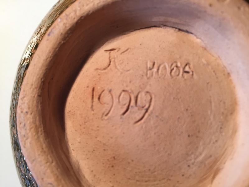 Unusual heavy glazed bowl Img_1424