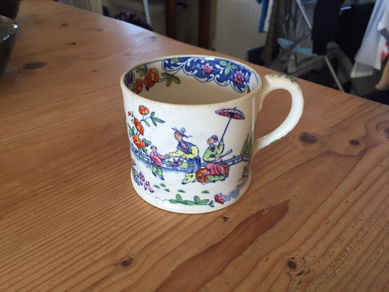 Interesting oriental style cup with sun mark - William Ratcliffe 1840 Img_1513