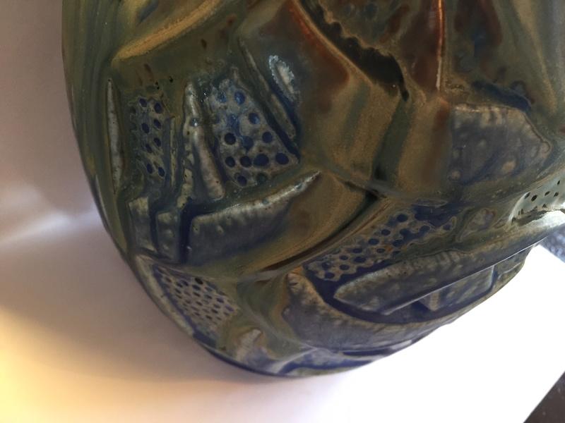 Large French Arts and Crafts vase Img_2041