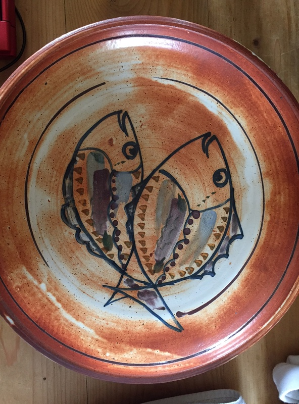 Large platter with fish decoration - Charles Audoin?  Img_2046
