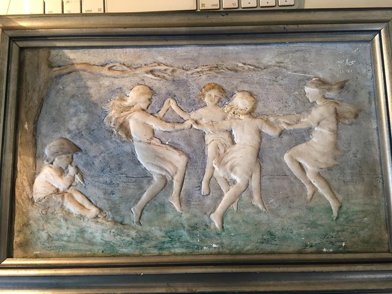 Chalkware wall plaque - Sophia Rosamond Praeger, Ireland Img_2048