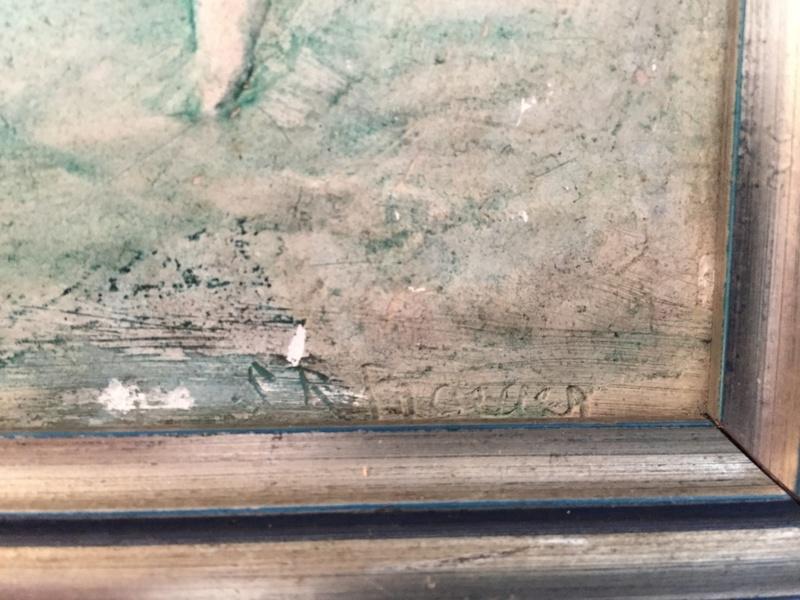 Chalkware wall plaque - Sophia Rosamond Praeger, Ireland Img_2049