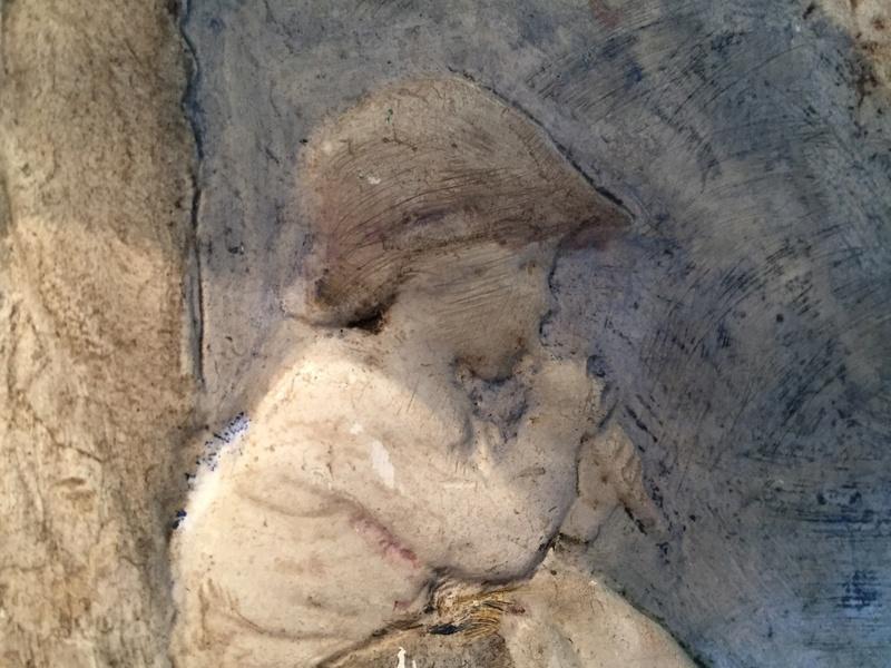 Chalkware wall plaque - Sophia Rosamond Praeger, Ireland Img_2050