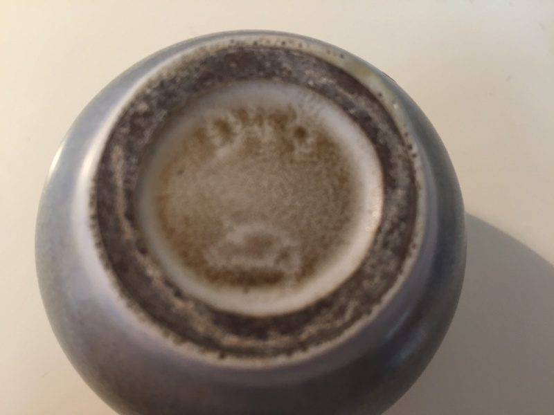 Mini vase with bird mark Img_2117