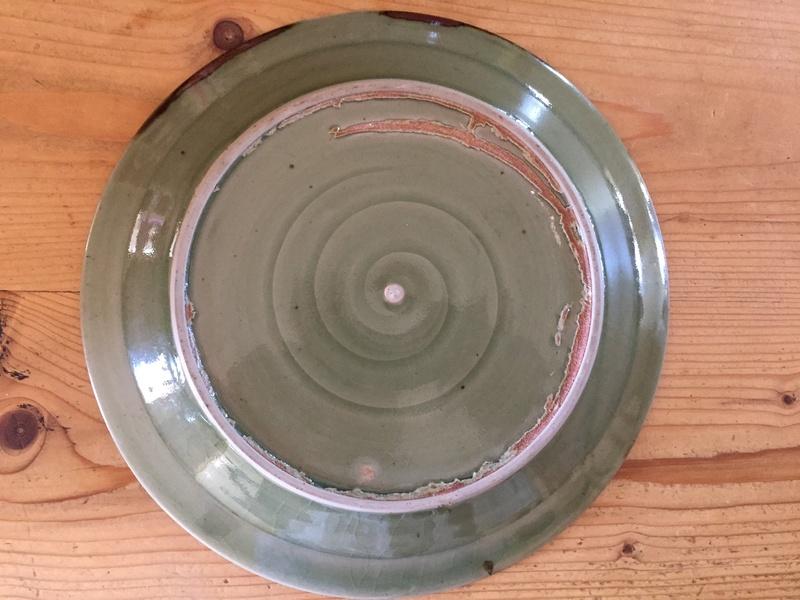 Glazed plate with EG impressed mark Img_2313