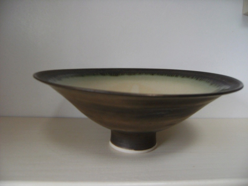 signed, Beautiful Drip glaze bowl - Ann Kenny       S-l16059