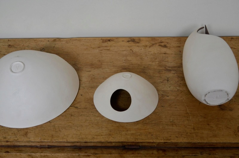Cut out pottery with an S mark - Sarah Hillman  S-l16091