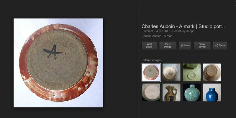 Large platter with fish decoration - Charles Audoin?  Screen20