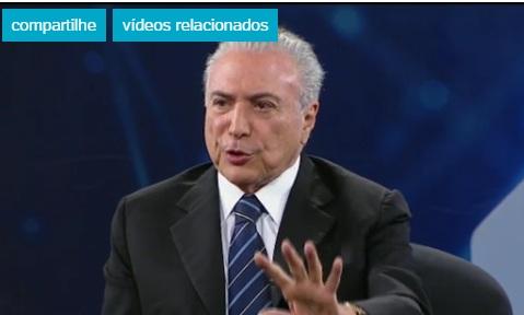 Dilma usará entrevista de Temer para contestar legalidade do impeachment... Temer_10