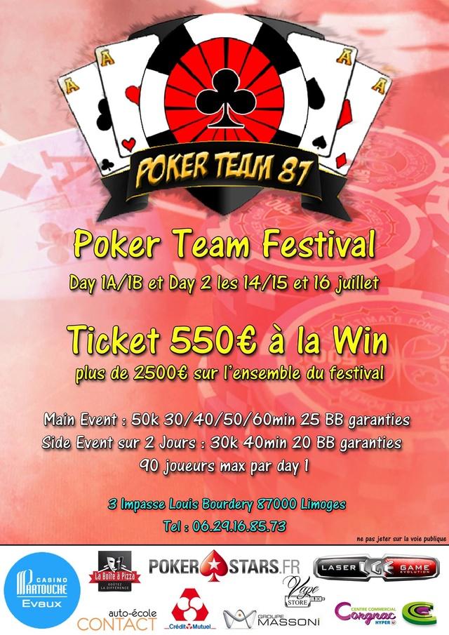 Main Event Poker Team 87 Festival - 14, 15 et 16 juillet 2017 18815311