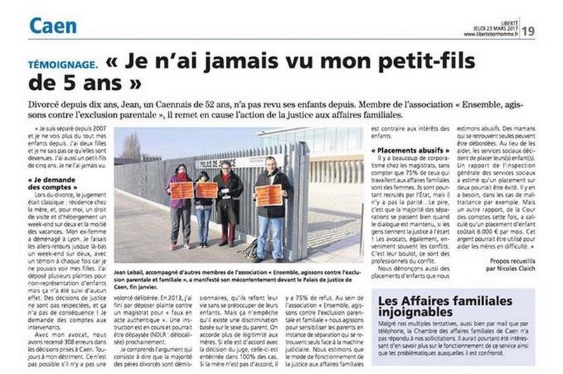 EACEP Ensemble Agissons Contre l'Exclusion Parentale Caen10
