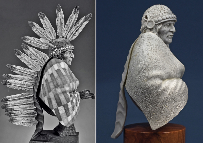 Buste Jicarilla Apache, un classique revisité (Fini !!!) Edan_019
