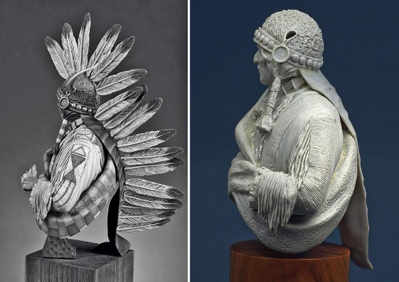 Buste Jicarilla Apache, un classique revisité (Fini !!!) Edan_020