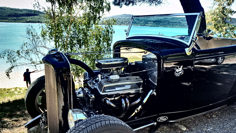 C3,Rods et Mustang au bord du lac et pique-nique entre amis P5080014