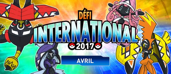 Défi International d'avril 2017