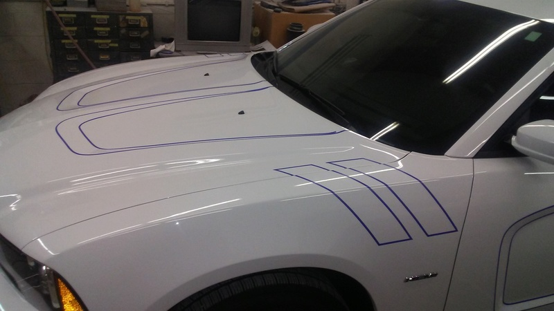 Car is almost completely taped 20170210