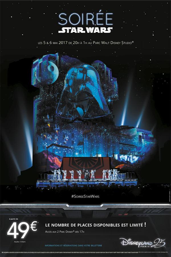 """""""Soirée Star Wars"""" Les 5 et 6 mai 2017, au Parc Walt Disney Studios Disney11"""
