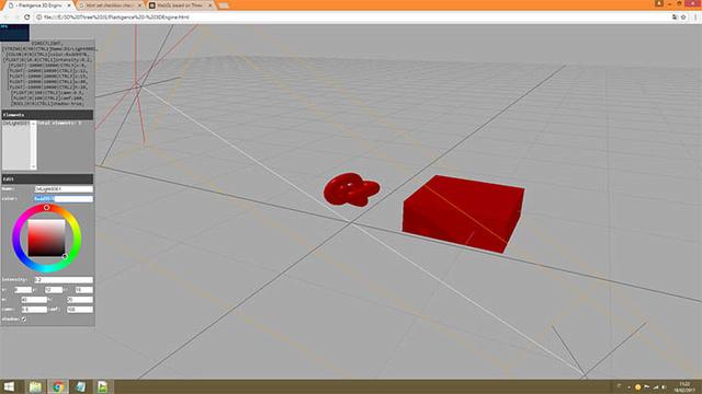 First screenshot of the 3D Editor 3d_edi10
