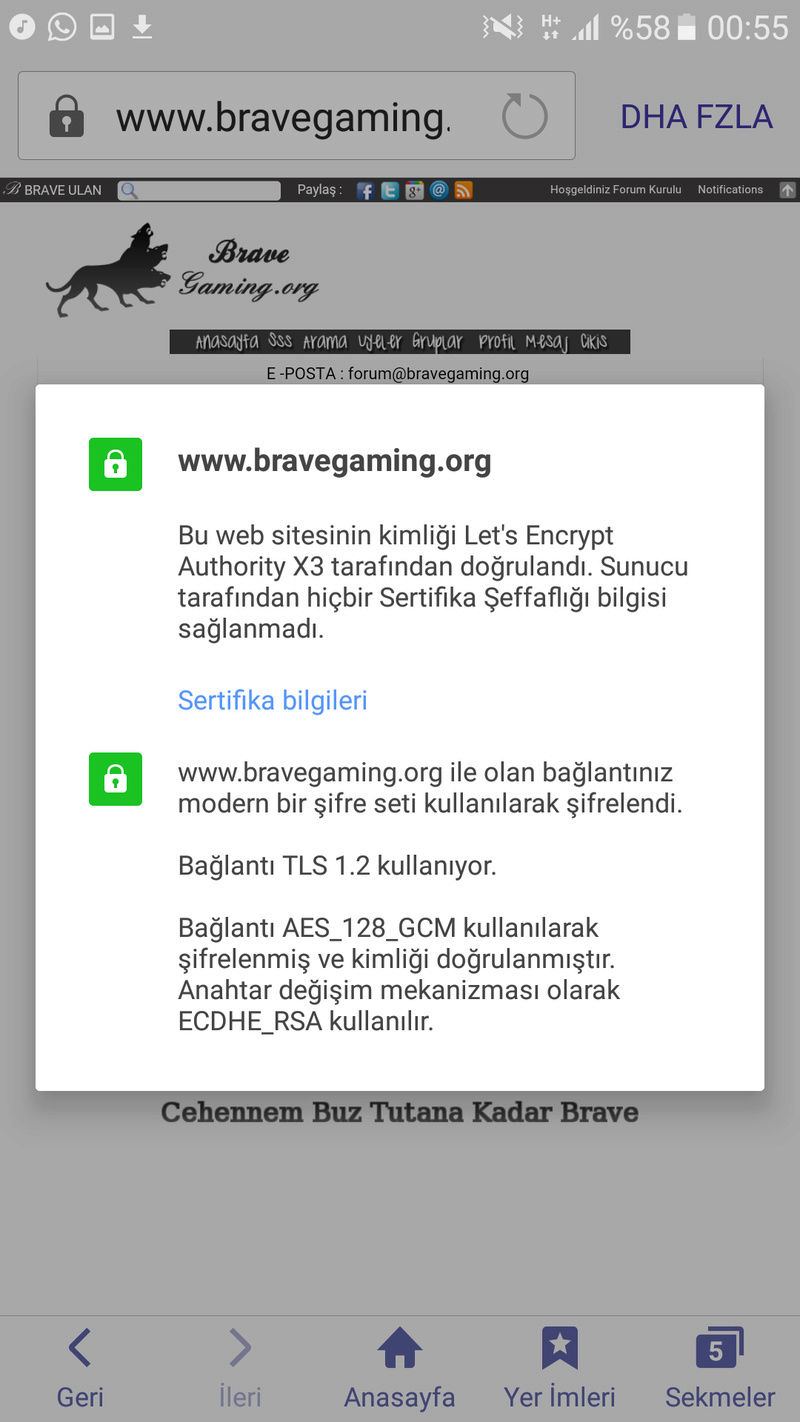 SSL Sertifika güvenli değil htpps Screen24