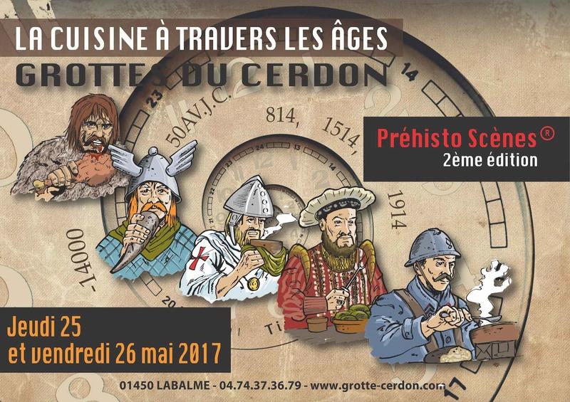 Les Préhisto Scènes au Parc de loisirs préhistoriques des grottes du Cerdon  Affich10