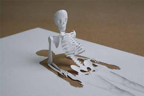 Surprenantes sculptures en papiers  Paper-10