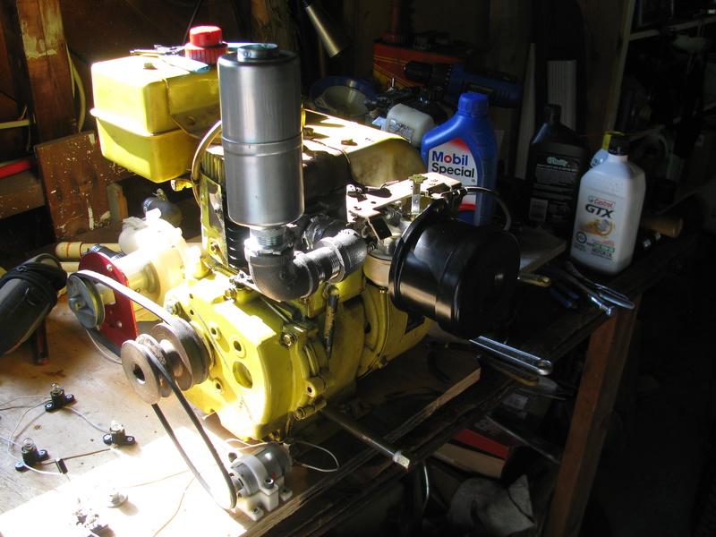Tecumseh powered waterpump rig Img_2513