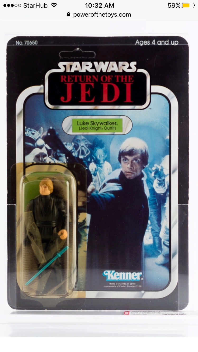 Repro blue lightsaber on a afa luke jedi figure Img_4811