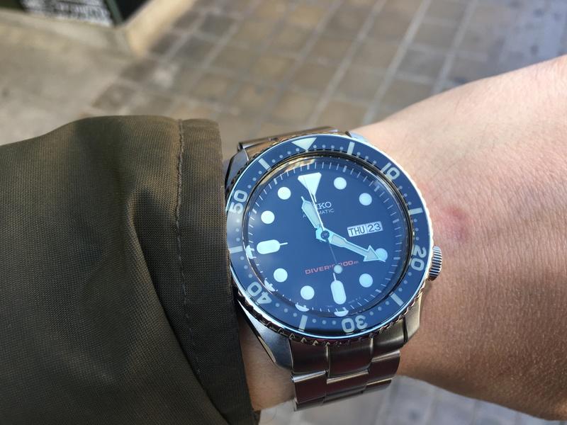 Skx007 con insert zafiro y luminova de Bluebirdive Img_5114