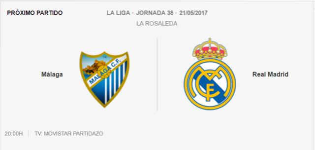 Málaga- Real Madrid Real10