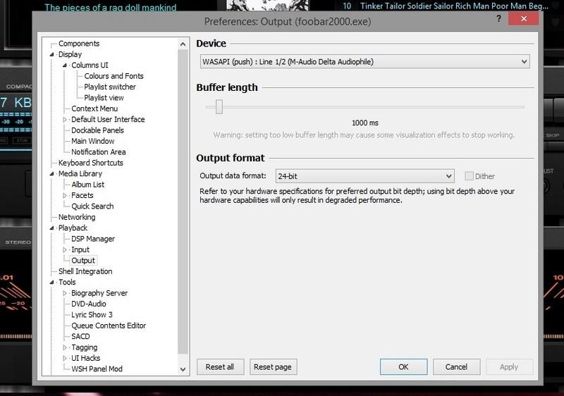 Help!! Mi Foobar reproduce los archivos 24/96 a 16/96 Teac110