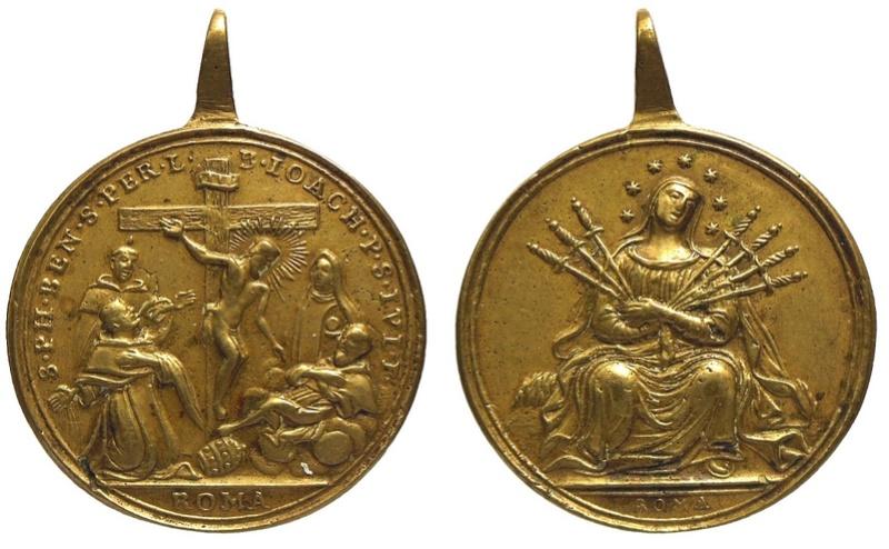 medalla siete santos que fundaron los servitas de Marie C-00811