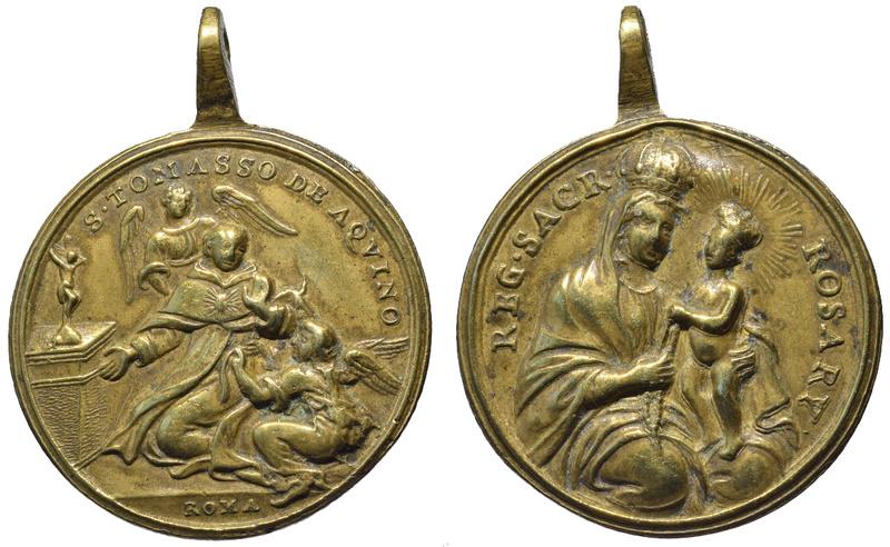 Santo Tomás de Aquino / Virgen del Rosario (R.M. SXVIII-C131) C-09111