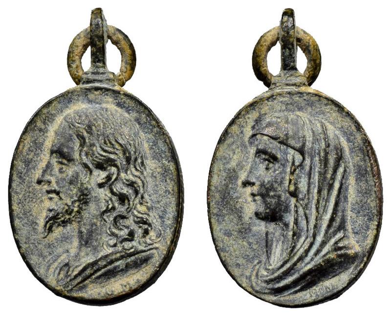 Busto de Jesús / Busto de María (R.M. SXVII-O432) O-29910