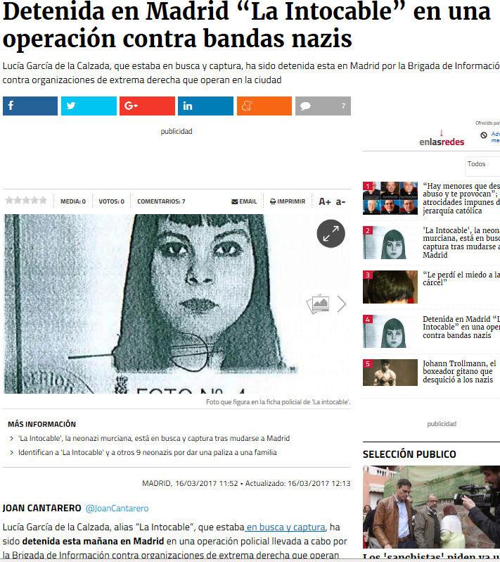La chica agredida en Murcia sería una nazi  Captur27